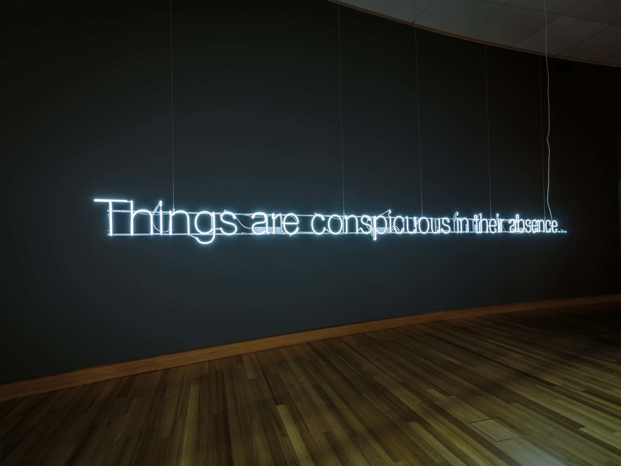 Cerith Wyn Evans's Things are conspicuous in their absence...